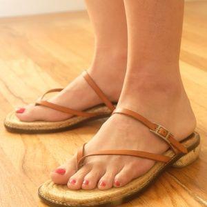 Hermes sandal beige brown 36 Espadrille